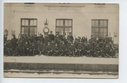 Carte Photo (vosges) Autrey  Sainte Helene  Quai De La Gare  Enneige Janvier 1919  (soldats Du 357e ) Rare Document  - France