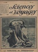 1923 - Revue Sciences Et Voyages N 199 - Thème LE BAILLEMENT D'UN HIPPOPOTAME - AFRIQUE EQUATORIALE - Histoire