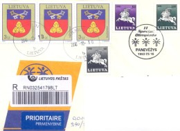 2016. Lithuania, The Letter By Registered Prioritaire Post To Moldova