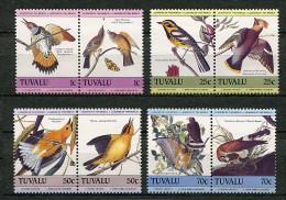 Tuvalu ** N° 291 à 298 - J.J.Audubon. Oiseaux - - Tuvalu (fr. Elliceinseln)