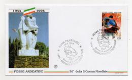 Italia - 1994 - Busta FDC - 50° Della II° Guerra Mondiale - ECCIDIO FOSSE ARDEATINE - (FDC1286) - 6. 1946-.. Repubblica
