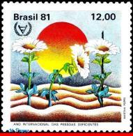 Ref. BR-1759 BRAZIL 1981 HEALTH, INTERNATIONAL YEAR OF, DISABLED PERSON, MI# 1845, MNH 1V Sc# 1759