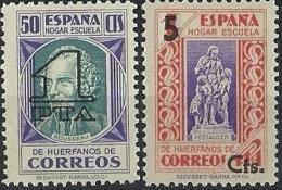 ESPAÑA BENEFICENCIA 1938 HABILITADOS 27/8** MNH - Wohlfahrtsmarken