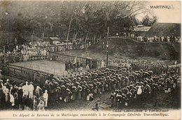 Un Depart De Recrues De La Martinique Rassembles A La Compagnie Transatlantique - Martinique