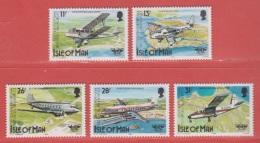 1984 ** (sans Charn., MNH, Postfrish)  Vliegtuig, Avion, Airplane, Flugzeug  Yv 253/7  Mi 256/60  SG 267/71