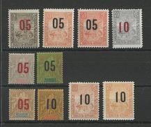 MADAGASCAR - YVERT N° 111/120 * - COTE = 36.5 EUROS - CHARNIERE PROPRE - Madagascar (1889-1960)