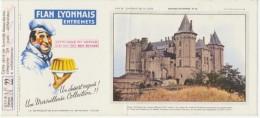 Buvard - FLAN LYONNAIS - Chateau De SAUMUR - N°22 - Blotters