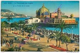 06. NICE . La Promenade Des Anglais  Et Le Palais De La Jetée . CPA Colorisée . - Niza