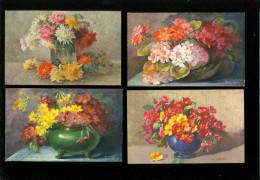 Beau Lot De 60 Cartes Postales De Fantaisie Fleurs  Fleur   Mooi Lot Van 60 Postkaarten Van Fantasie  Bloemen  Bloem - Postkaarten