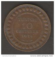TUNISIA 10 CENTIMES 1914 - Tunisia
