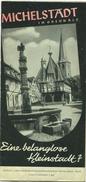 Michelstadt Im Odenwald 1939 - Faltblatt Mit 10 Abbildungen - Beiliegend Gaststättenverzeichnis - Dépliants Touristiques