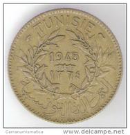 TUNISIA BON POUR 2 FRANCS 1945 - Tunisia