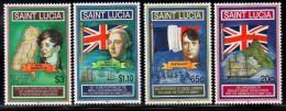 2001 Saint Lucia Civil Administration Napoleon  Complete Set Of 4  MNH