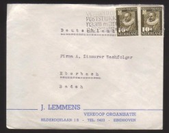 7634- Nederland , Cover To Germany - Poststempels/ Marcofilie