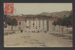 DF / 34 HERAULT / LODEVE / CASERNE DU 142e / CIRCULÉE EN 1908 - Lodeve