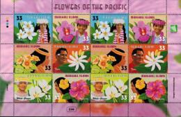 MBP-BK25-041 MINT ¤ MARSHALL ISL. 1999 2x6w In Serie ¤ FLOWERS OF THE WORLD - FLEURS - BLÜMEN - BLOEMEN - FLORES