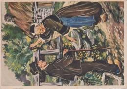 C P S M  HOMUALK EN PARCOURANT LA BRETAGNE BANNALECE SÉRIE 1950  N 92 - Homualk