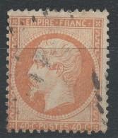 Lot N°32584   Variété/ N°23, Oblit , Taches Blanches Face Au Visage - 1862 Napoleon III