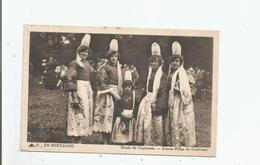 JEUNES FILLES DE GUILVINEC  EN BRETAGNE ETUDES DE COSTUMES 1938 - Guilvinec