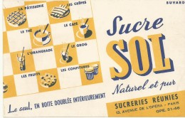 BUVARD NEUF SUPERBE   SUCRE SOL - Sucreries & Gâteaux