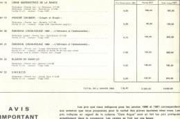 Catalogue Des 5 Premières Années Des Feuillets CEF.Il Manque La Couverture Et Les Deux Premières Feuilles . - France