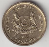 @Y@    5  Cent  Singapore  2005      (3271)  XF+ - Singapore