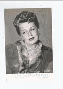 VALENTINE TESSIER CARTE AVEC AUTOGRAPHE - Autographs