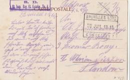 Bruxells Nord  - Recettes 3 - Etappen Inspektion Bayerlische Etappenkpmmandantur N° 4 - WW I