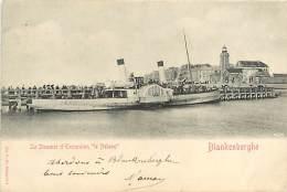 E-16 1885 :  LE STEAMER D EXCURSION LE NELSON  A BLANKENBERGHE LE PHARE - Lighthouses