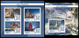 GUINEA 2016 - Lighthouses. M/S + S/S. Official Issue