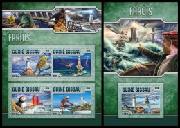 GUINEA BISSAU 2016 - Lighthouses, M/S + S/S. Official Issue