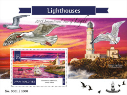 MALDIVES 2016 - Lighthouses S/S Official Issue