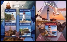 MOZAMBIQUE 2016 - Lighthouses. M/S + S/S. Official Issue