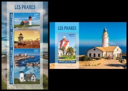 NIGER 2016 - Lighthouses, M/S + S/S. Official Issue