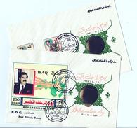 IRAQ STAMPS : FDC 1997 SADDAM HUSSEIN  REFERENDUM DAY FIRST DAY COVER - Irak