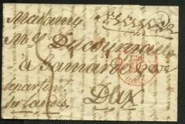SPAIN - ESPAGNE 1846 CADIZ A Dax, Francia - Envuelto Prefilatelico - ...-1850 Prefilatelia