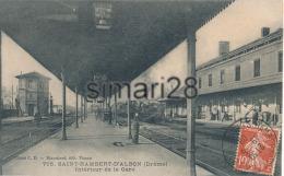 SAINT-RAMBERT-D'ALBON - N° 705 - INTERIEUR DE LA GARE - Other Municipalities