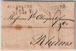 """1810 """" ALLEMAGNE PAR NEUSS """" , #6331 - Storia Postale"""