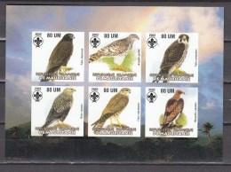 Mauritania 2002,6V In Block,IMP,birds Of Prey,birds,vogels,vögel,oiseaux,pajaros,uccelli,aves,MNH/Postfris(L2772) - Non Classés