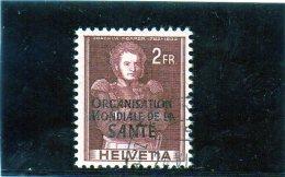 B - 1948/50  Svizzera - Organizzazione Mondiale Della Sanità - Servizio