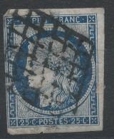 Lot N°32602   N°4a Bleu Foncé, Oblit Grille De 1849, Bonnes Marges