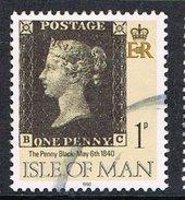 Isle Of Man SG442 1990 Penny Black 1p BC Good/fine Used [12/12549/25D]