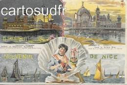 06 NICE1-SOUVENIR OFFICIEL DE L´EXPOSITION DE CARTES POSTALES DE NICE ORGANISEE PAR LE Dr. A HEMBO EN 1899 TBE - Marchés, Fêtes