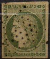 FRANCE - 15 C. Vert Oblitéré FAUX Ancien (probablement Spérati)