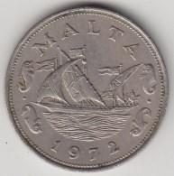 @Y@  Malta   10 Cents   1972    (3300)  Sailingship - Malta