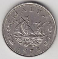 @Y@  Malta   10 Cents   1972    (3301)  Sailingship - Malta