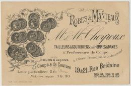 Paris 19/21 Rue Bridaine Tailleurs Couturiers Cheyroux Expo 1893 1896 1899 Imp Luce Versailles - District 17