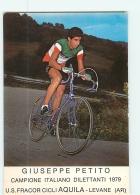 Giuseppe PETITO , Champion D'Italie. 2 Scans. Cyclisme. Fragor Aquila - Ciclismo