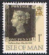 Isle Of Man SG442 1990 Penny Black 1p CA Good/fine Used [12/12551/25D]