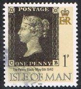 Isle Of Man SG442 1990 Penny Black 1p CB Good/fine Used [12/12552/25D]